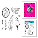 Llama Drama Clear Stamp Set from Whimsical and Wild Collection by Jane Davenport