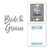 Die D-Lites Bride & Groom Sentiment Etched Dies Wedding Season by Nichol Spohr