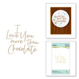 Stylish Script More than Chocolate Glimmer Hot Foil Plate