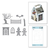 Spooky Cottage Etched Dies Halloween Collection from Amazing Paper Grace by Becca Feeken