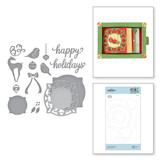 Holly Frame Gala Etched Dies Christmas Cascade Collection from Amazing Paper Grace by Becca Feeken