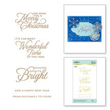 Elegant Holiday Glimmer Sentiments Glimmer Hot Foil Plate Christmas Cascade Collection from Amazing Paper Grace by Becca Feeken
