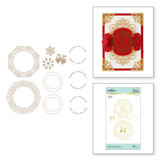 Filigree Glimmer Wreaths Glimmer Hot Foil Plate Christmas Cascade Collection from Amazing Paper Grace by Becca Feeken