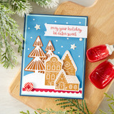 Sweet Gingerbread Red Rubber Stamp Set