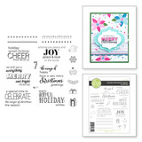 Holiday Sentiment Stacks Clear Photopolymer Stamp Set