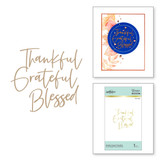 Stylish Script Thankful Glimmer Hot Foil Plate from Fall 2020 Collection