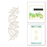 Autumn Leaf Border Glimmer Hot Foil Plate from Fall 2020 Collection