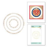 Christmas Essential Glimmer Circles Glimmer Hot Foil Plate from Sparkling Christmas Collection