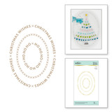 Christmas Essential Glimmer Ovals Glimmer Hot Foil Plate from Sparkling Christmas Collection