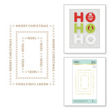 Christmas Essential Glimmer Rectangles Glimmer Hot Foil Plate from Sparkling Christmas Collection
