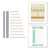 Holiday Sentiments Series 2 Glimmer Hot Foil Plate & Die Set from Sparkling Christmas Collection