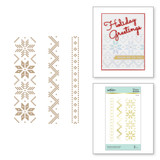 Christmas Sweater Borders Glimmer Hot Foil Plate from Sparkling Christmas Collection