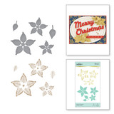 Glimmer Poinsettia Glimmer Hot Foil Plate & Die Set from Sparkling Christmas Collection