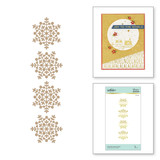 Snowflake Sparkle Border Glimmer Hot Foil Plate from Sparkling Christmas Collection