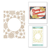 Snowflake Sparkle Background Glimmer Hot Foil Plate from Sparkling Christmas Collection