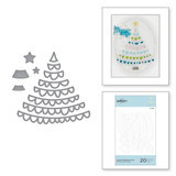 Die-Lites Joyful Christmas Tree Etched Dies from Sparkling Christmas Collection
