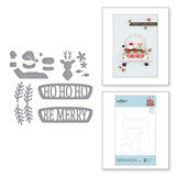Die-Lites Sunday Drive with Santa Etched Dies from Sparkling Christmas Collection