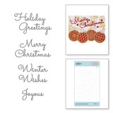 Christmas Mix & Match Sentiments Etched Dies from Sparkling Christmas Collection
