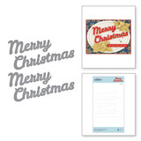Bold Type Merry Christmas Etched Dies from Sparking Christmas Collection