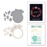 Christmas Foliage Circle Border Glimmer Hot Foil Plate and Dies from Yana's Christmas Foiled Basics Collection by Yana Smakula