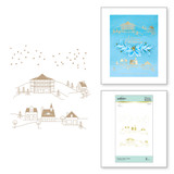 Glimmer Winter Village Glimmer Hot Foil Plate from Yana's Christmas Foiled Basics Collection by Yana Smakula