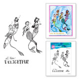 Singing Mermaids Clear Stamps from the Stamp Camp Collection by Jane Davenport
