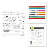 Craft Happy Clear photopolymer Stamp Set