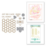 Just Bee-cause Glimmer Hot Foil Plate & Die Set Sweet Cardlets by Becca Feeken