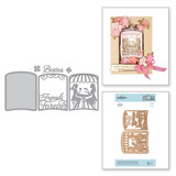 Shapeabilities Layered Friends Forever Cafe Scene Etched Dies Shadowbox by Becca Feeken