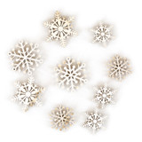 Pretty Flakes Accents Wooden Embellishments