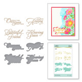 Heart Melt Sentiments Glimmer Hot Foil Plate & Die Set from Delicate Impressions Collection by Becca Feeken