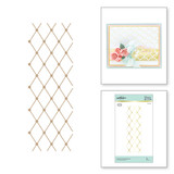 Diamonetta Background Glimmer Hot Foil Plate from Delicate Impressions Collection by Becca Feeken