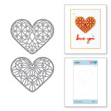 Forever Love Hearts Etched Dies from Expressions of Love Collection