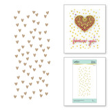 Scattered Hearts Background Glimmer Hot Foil Plate from Expressions of Love Collection
