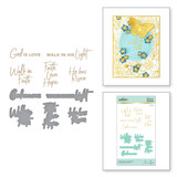 Faith Glimmer Sentiments Glimmer Hot Foil Plate & Die Set from Faith Collection