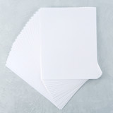 "White Cardstock 8 1/2"" x 11 - 25 pack"
