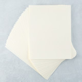 "Cream Cardstock 8 1/2"" x 11 - 25 pack"