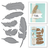 Shapeabilities Feathers Etched Dies
