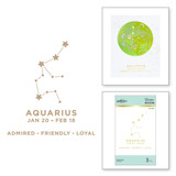Aquarius Glimmer Hot Foil Plate from Celestial Zodiacs Collection