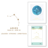 Aries Glimmer Hot Foil Plate from Celestial Zodiacs Collection