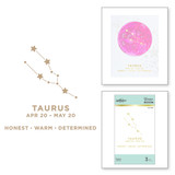 Taurus Glimmer Hot Foil Plate from Celestial Zodiacs Collection