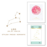 Leo Glimmer Hot Foil Plate from Celestial Zodiacs Collection