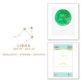 Libra Glimmer Hot Foil Plate from Celestial Zodiacs Collection