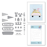 Hoppy Sunday Drive Etched Dies from Expressions of Spring Collection
