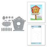 Build a Spring Birdhouse Etched Dies from Birdhouses Through the Seasons by Vicky Papaioannou