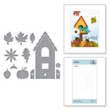 Build a Fall Birdhouse Etched Dies from Birdhouses Through the Seasons by Vicky Papaioannou