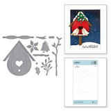 Build a Winter Birdhouse Etched Dies from Birdhouses Through the Seasons by Vicky Papaioannou
