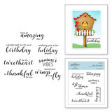 Tweet Sentiments Clear Stamps from Birdhouses Through the Seasons by Vicky Papaioannou