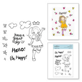 Darling Hello Clear Stamp Set from Delightful Darlings Collection by Mayline Jung
