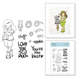 Darling Hugs Clear Stamp Set from Delightful Darlings Collection by Mayline Jung